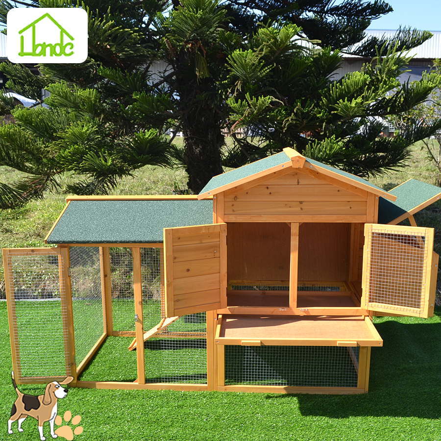 Easy to assemble&clean wooden chicken coop