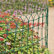 Green Garden Border Fence Scroll Top Rolled Fencing
