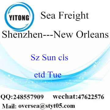 Shenzhen Port LCL Consolidation To New Orleans