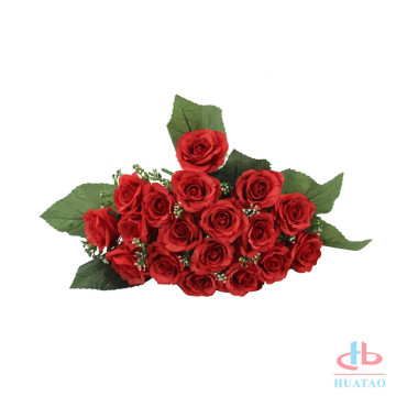 Muti-color rose flower preserved silk rose