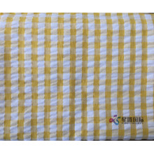 Colorful Plaid 100% Cotton Seersucker Fabric