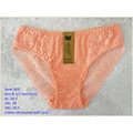 OEM wholesale new style underwear orange sexy comfortable lace cotton fancy panty 805