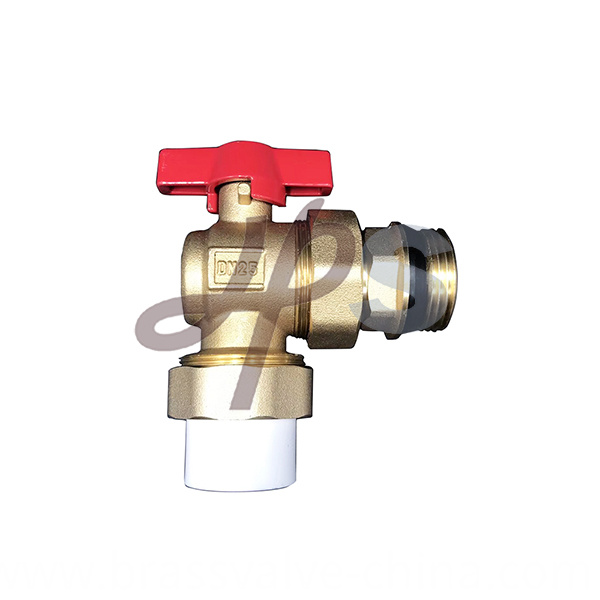Hot Forging Brass Angle Ball Valve With Ppr Union Hb60