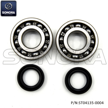 Peugeot horizontal Crank Sharf Bearing Set  Incl. Oil Seals (P/N:ST04135-0004) Top Quality