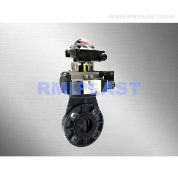 Pneumatic Butterfly Valve PVC Double Acting