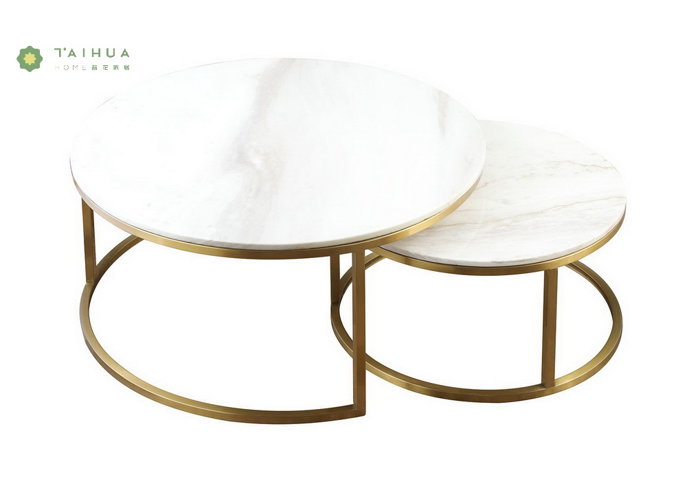Coffee Table with Brass Legs
