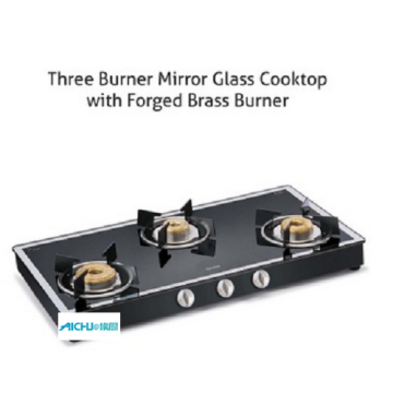 Gas Stove Forged Burners Black Mirror Finish