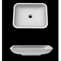 Repairable non yellowing pure acrylic solid basins
