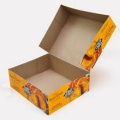 Offset CMYK color corrugated paper food package boxes