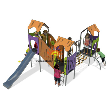 Commercial Outdoor Wooden Playground Equipment Play Slides