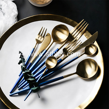 Blue Electroplating Stainless Steel Cutlery