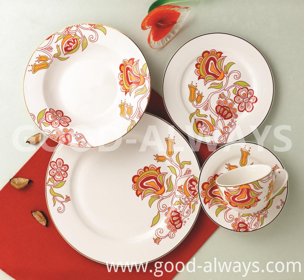 Nbc 748 New Bone China Tableware With Flower Design