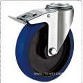 200mm European industrial rubber  swivel caster with brake