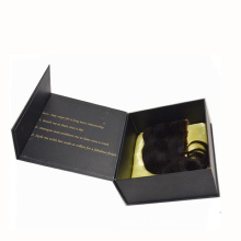 Matte Black Hair Extension Box With Magnetic Closure