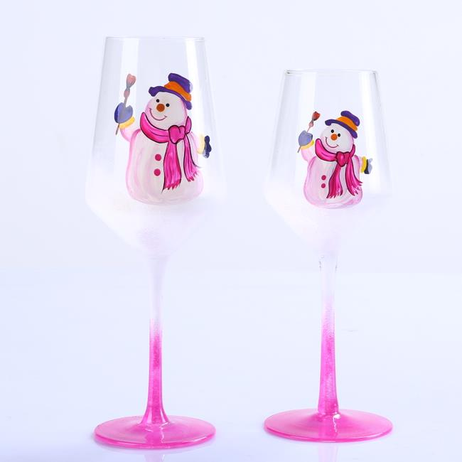 Br 9131 2 Wine Glass Goblets For Christmas