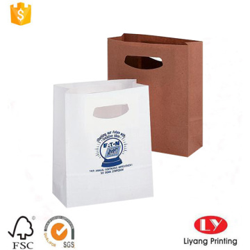 Eco-friendly kraft paper bag with handle