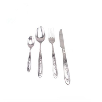 Solid Welded Stainless Steel Flatware Set for Kitchen