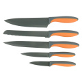 5 piece weave handle non-stick knife set