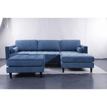 Sven cascadia blue right sectional sofa