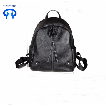 Casual with leather double shoulder bag