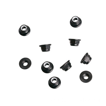 Nylon Lock Nut with serrated Flange Aluminum Fasteners