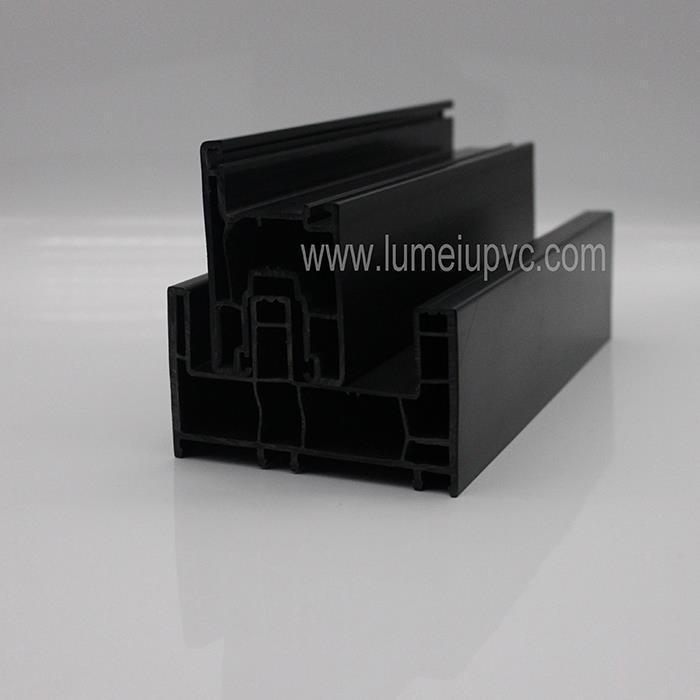 sliding upvc profiles black color