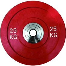 Customized for Color Echo Bumper Plates Coated Rubber Tri-grip Barbell weight plates supply to Mozambique Supplier