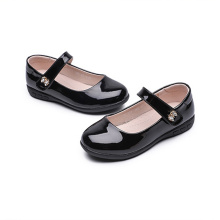 Girls Black Leather Dress Shoes