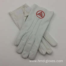 High Quality Industrial Factory for Embroidery Cotton Gloves Cheap Masonic White Cotton Gloves supply to Belgium Wholesale