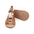 Popular Soft Leather Ladies Flat Sandals