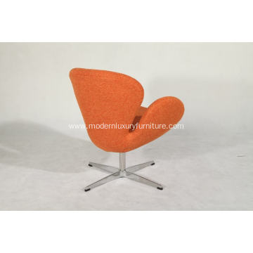 swan chair in woolen fabric