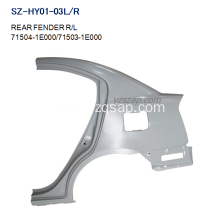OEM manufacturer custom for REAR Fenders For HYUNDAI Steel Body Autoparts HYUNDAI 2006 ACCENT REAR FENDER supply to Cote D'Ivoire Exporter