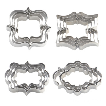 4pcs/set European Wedding Cookie Cutters
