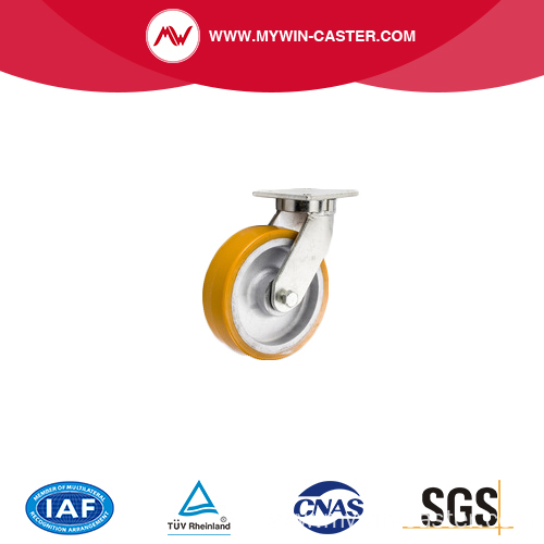 Heavy duty Iron Core PU Stainless steel casters