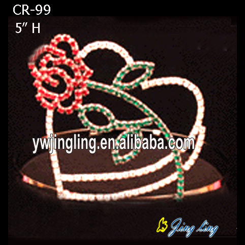 Heart Rose Valentine's Day Crown For Love