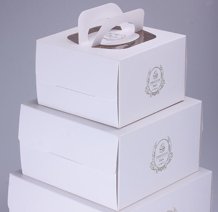 Gold Stamping Embossing Birthday Cake Packaging Box