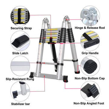 3.2M double telescopic ladder