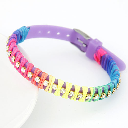 BRICOLAGE promotionnel Multi String encapsulé Band bracelet en Silicone