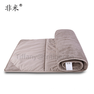 2017 New design multifunction army folding bed suede material mattress