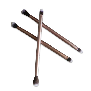 Double end aluminum eyeshadow Shading brush makeup brushes