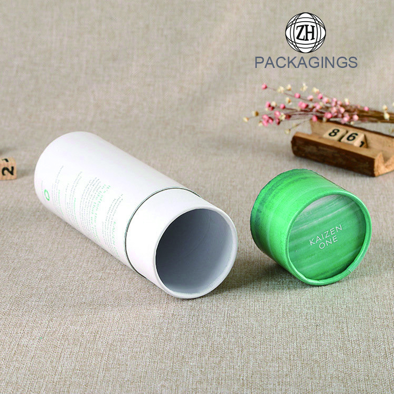 White round paper packaging can for apparel