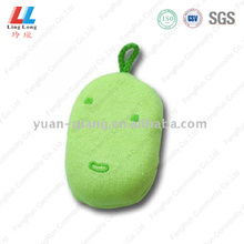 Green stunning charming bath sponge