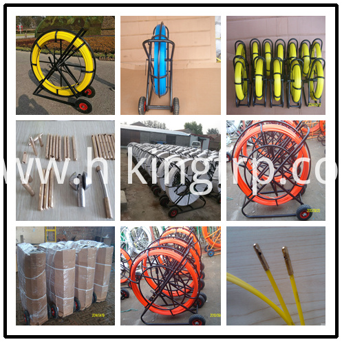Tracer Wire Detecable Cable Pusher FRP Duct Rodder