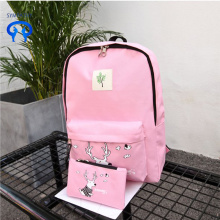 Fashion academy style  cartoon deer schoolbag