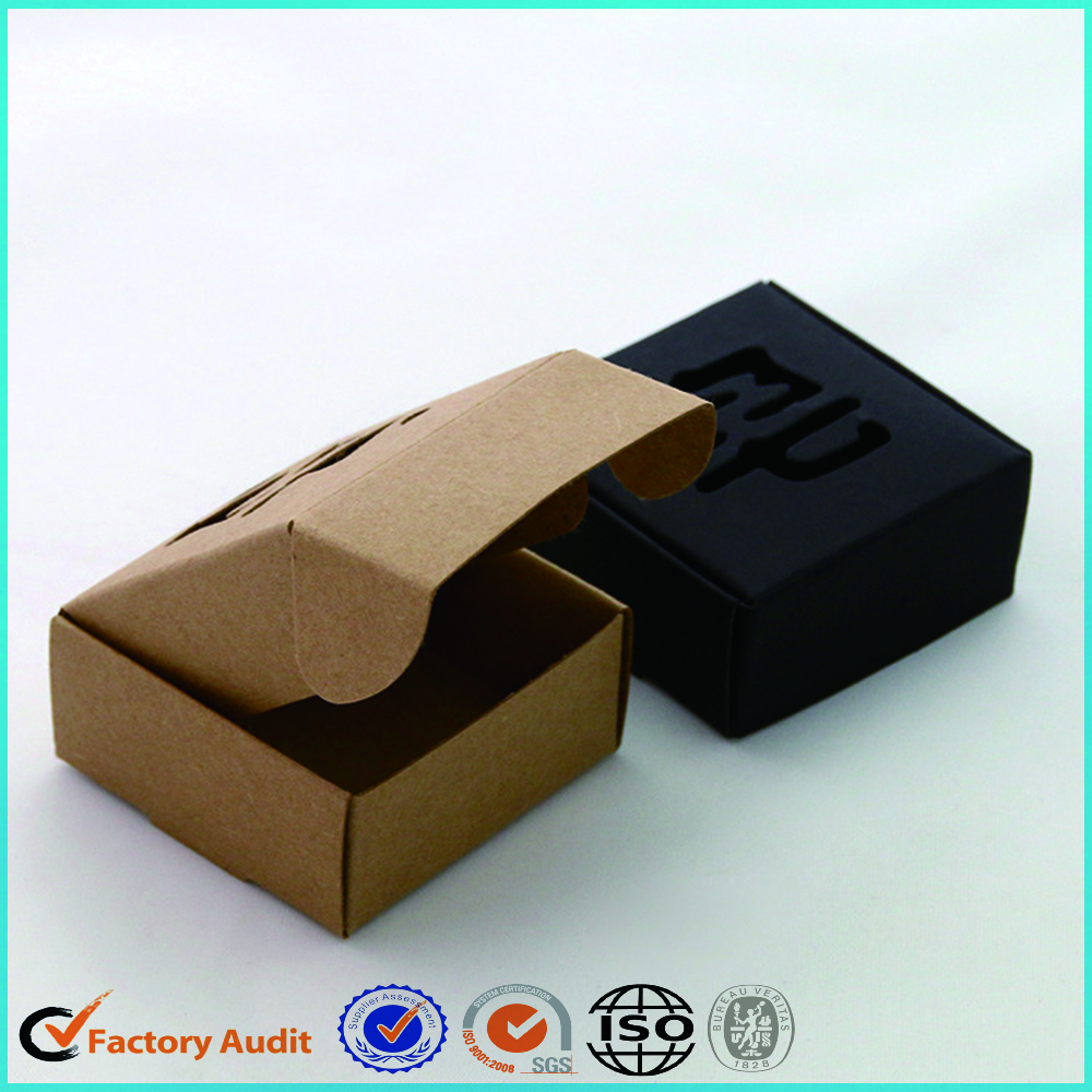 Black Cardboard Soap Packaging Box Design