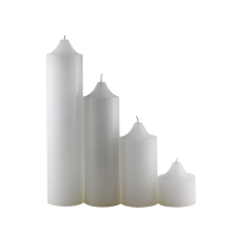 Wholesale Home Decoration White Paraffin Wax Pillar Candle