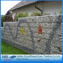 galvanized square welded gabion box/caged wall stone