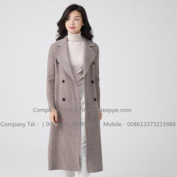 Long Hooded Cashmere Overcoat For Lady