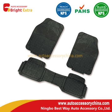 Semi Custom Trimmable 3 PCS Rubber Floor Mats
