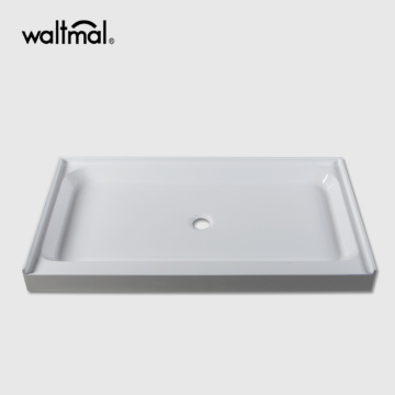 "48""×36"" Rectangle Acrylic Shower Base With Anti-Sliding"